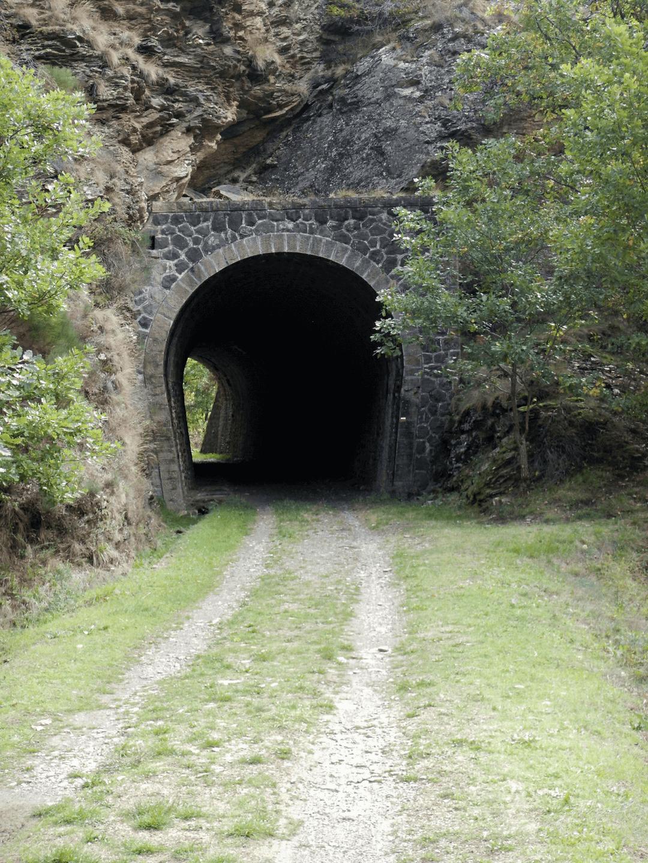 Sur le chemin de la voie de chemin de fer abandonnée