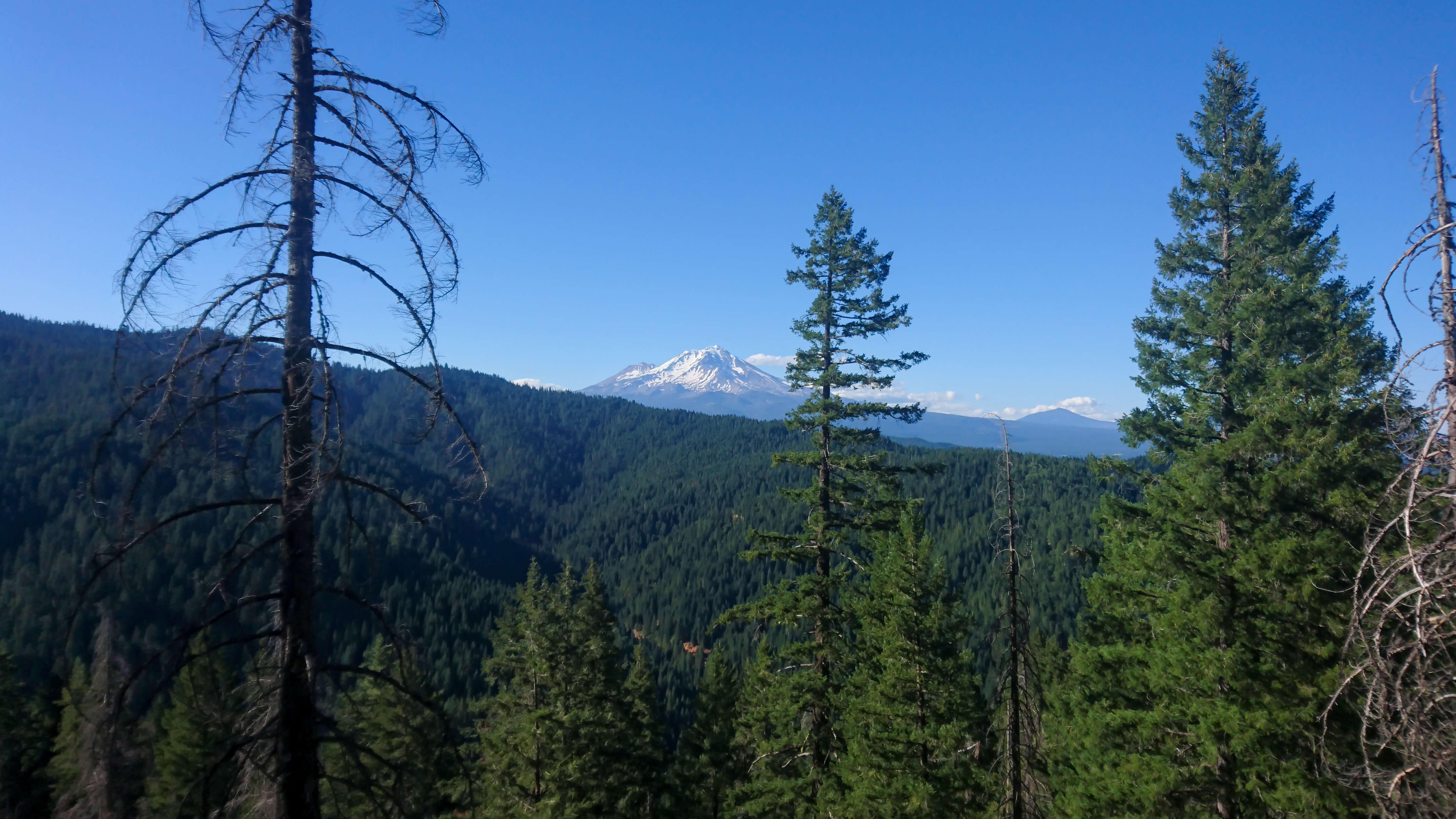 Je contourne petit à petit le Mont Shasta