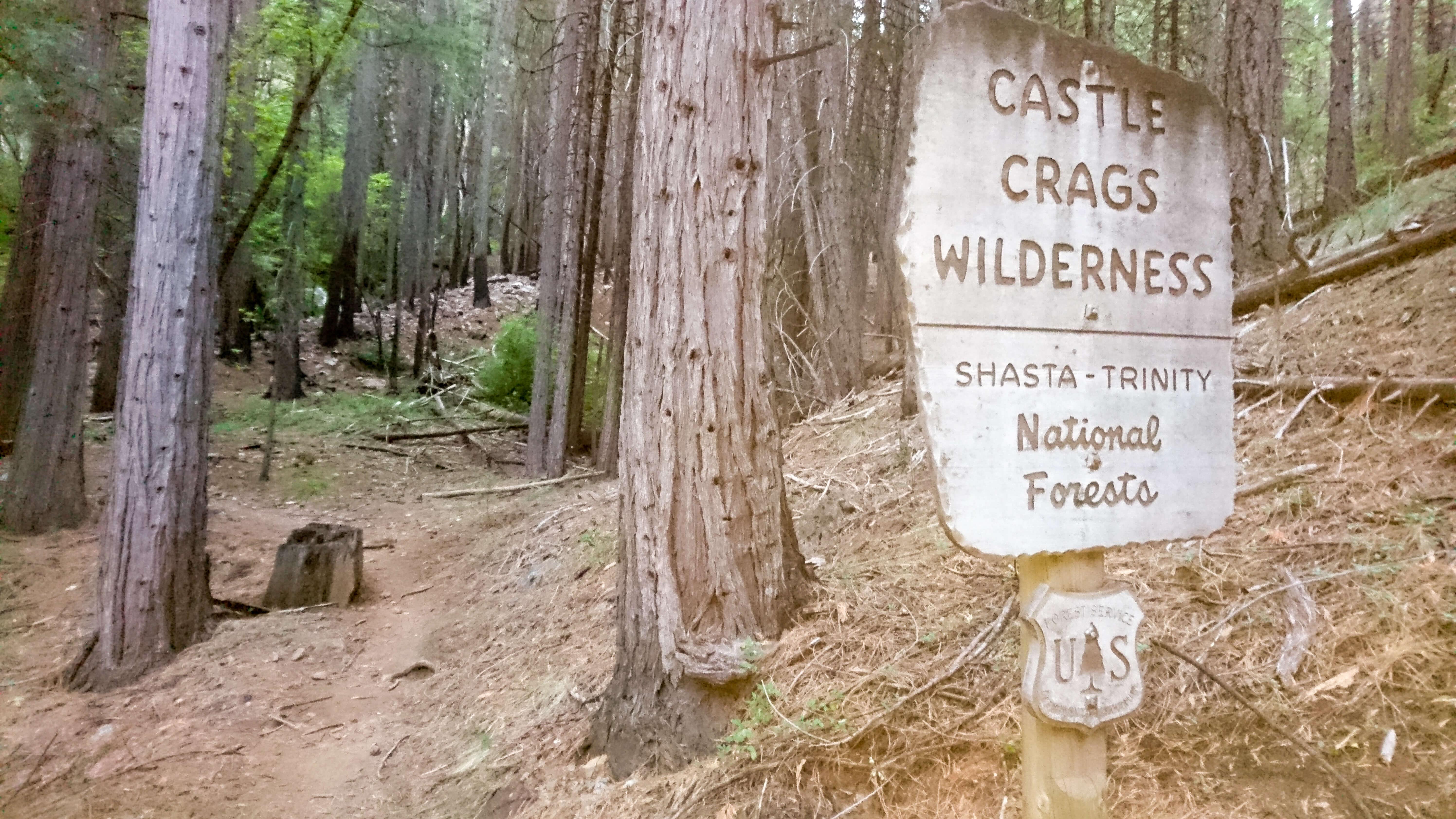 De retour sur le trail, à l'entrée de Castle Crags Wilderness