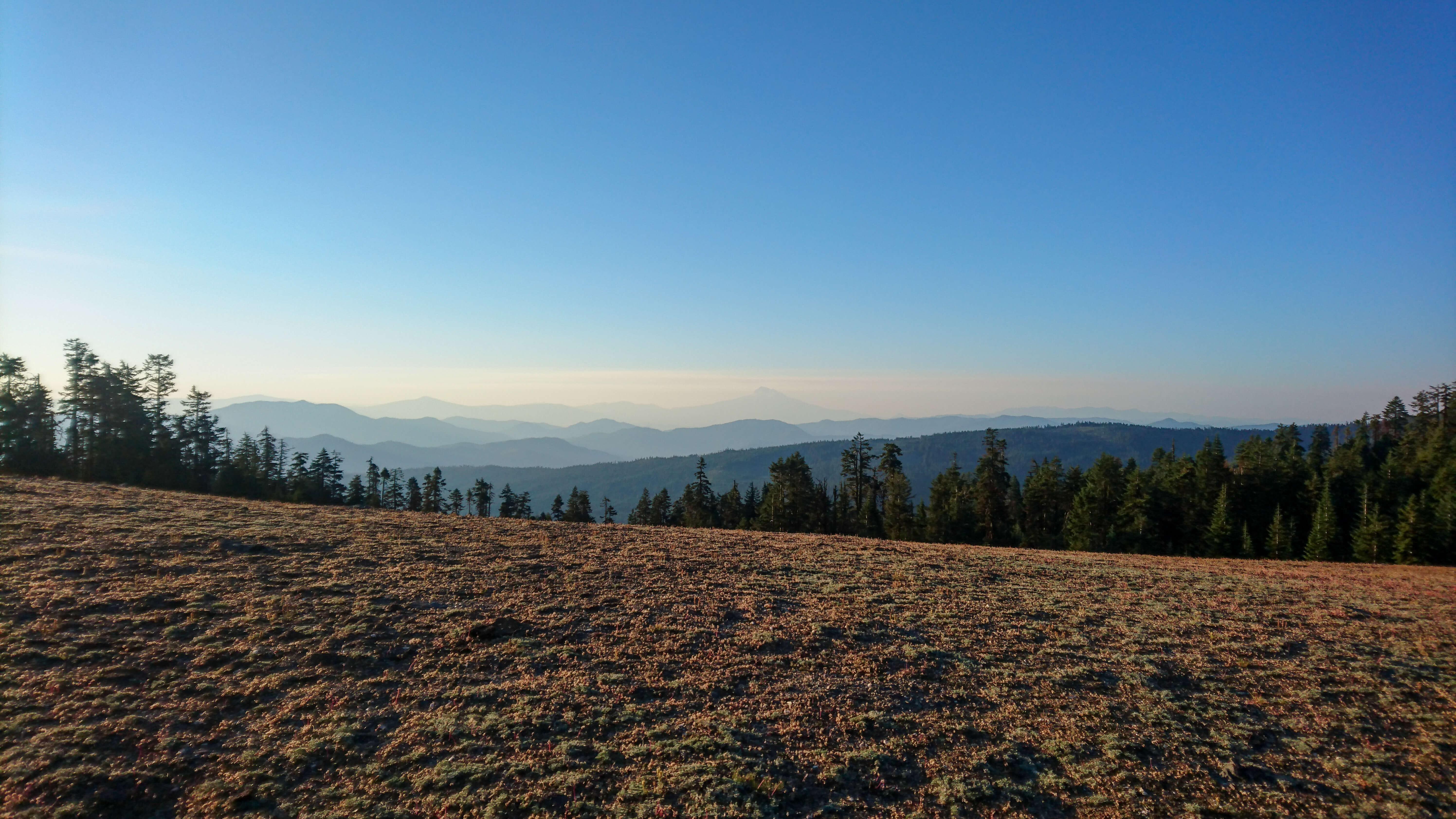 L'ombre du Mont Shasta plane sur les collines