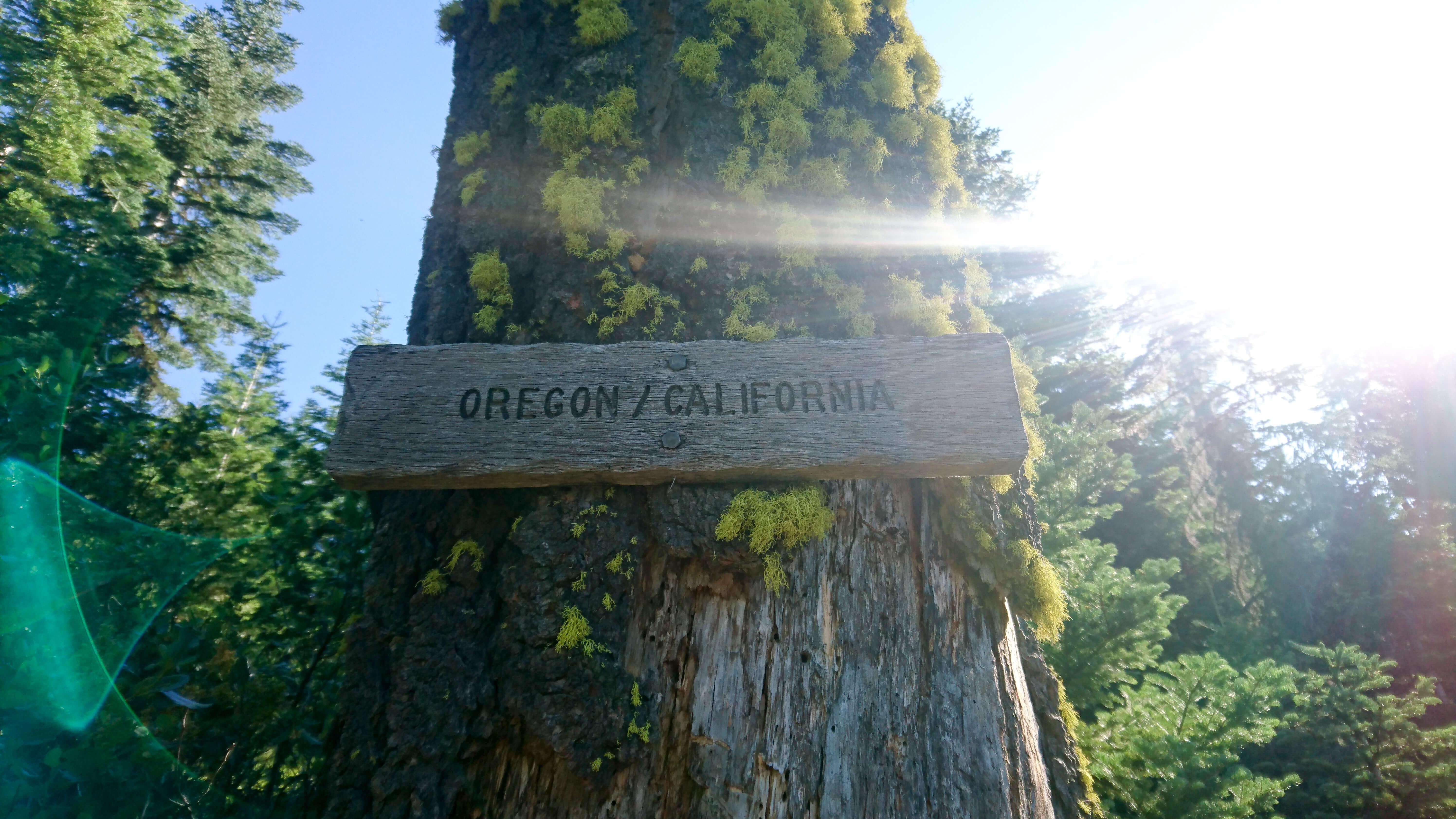 La frontière d'état est franchie ! Me voici en Oregon !