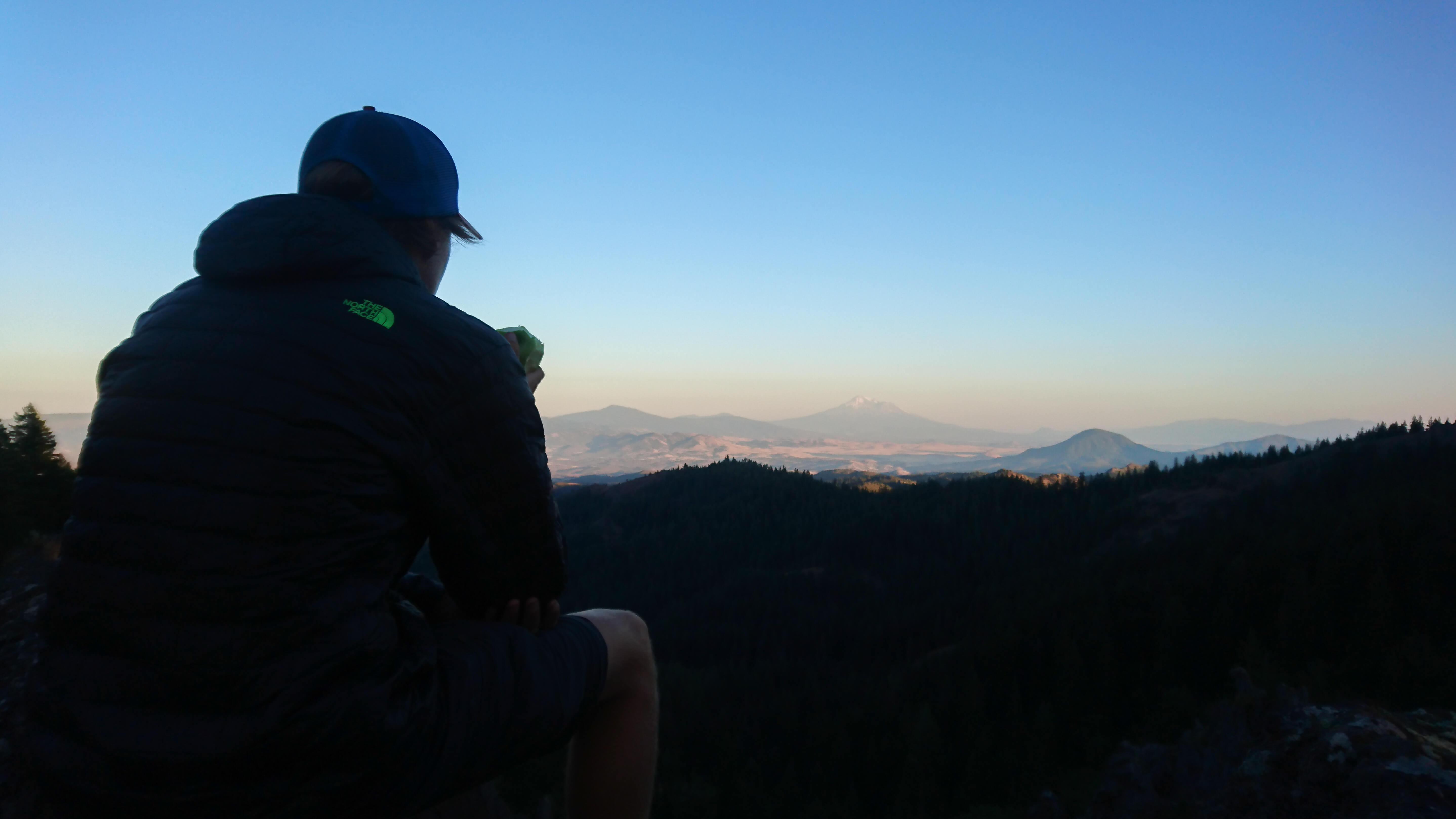 Une des dernières vues sur le Mont Shasta