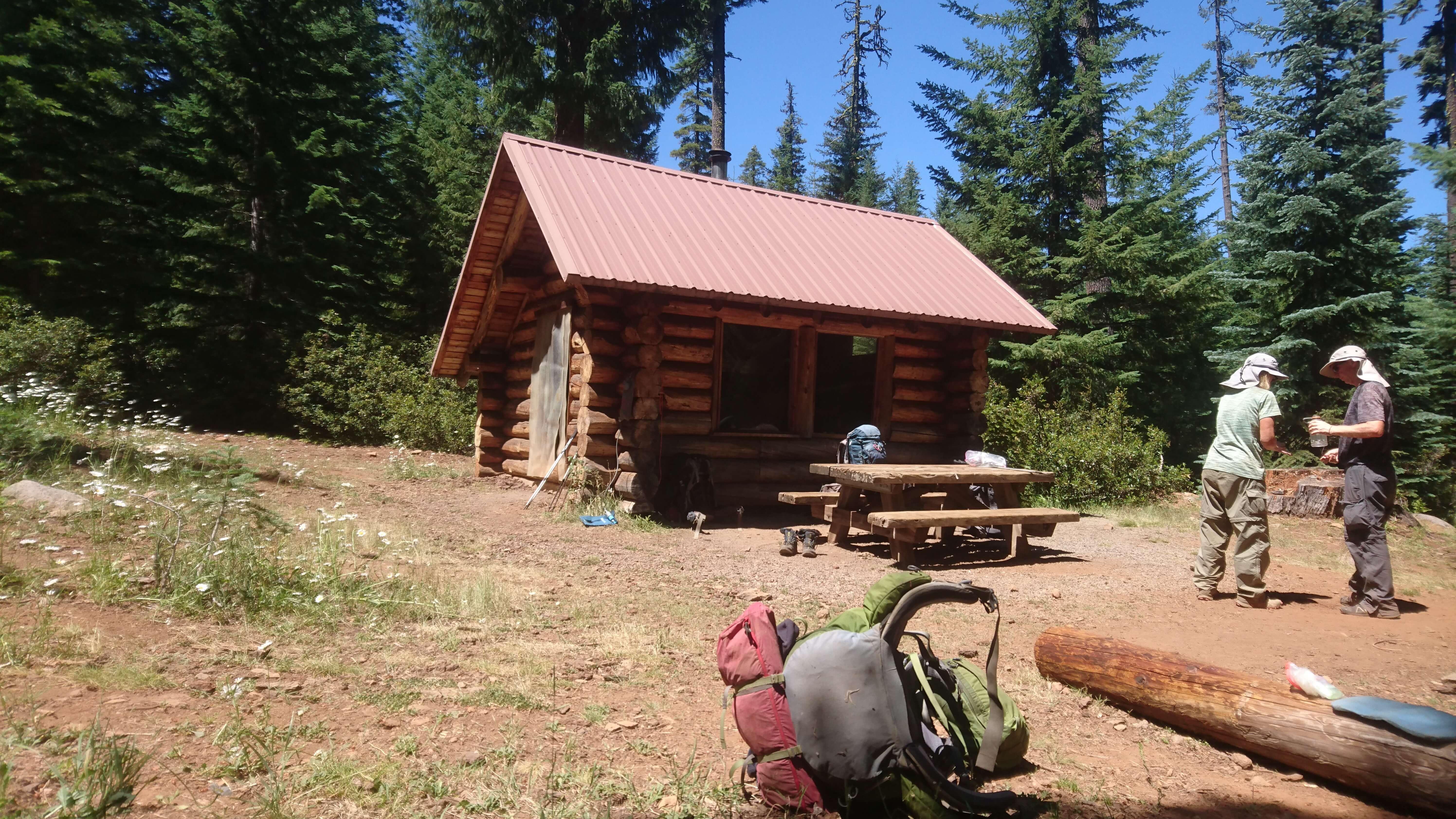 Pause déjeuner au South Brown Montain Shelter