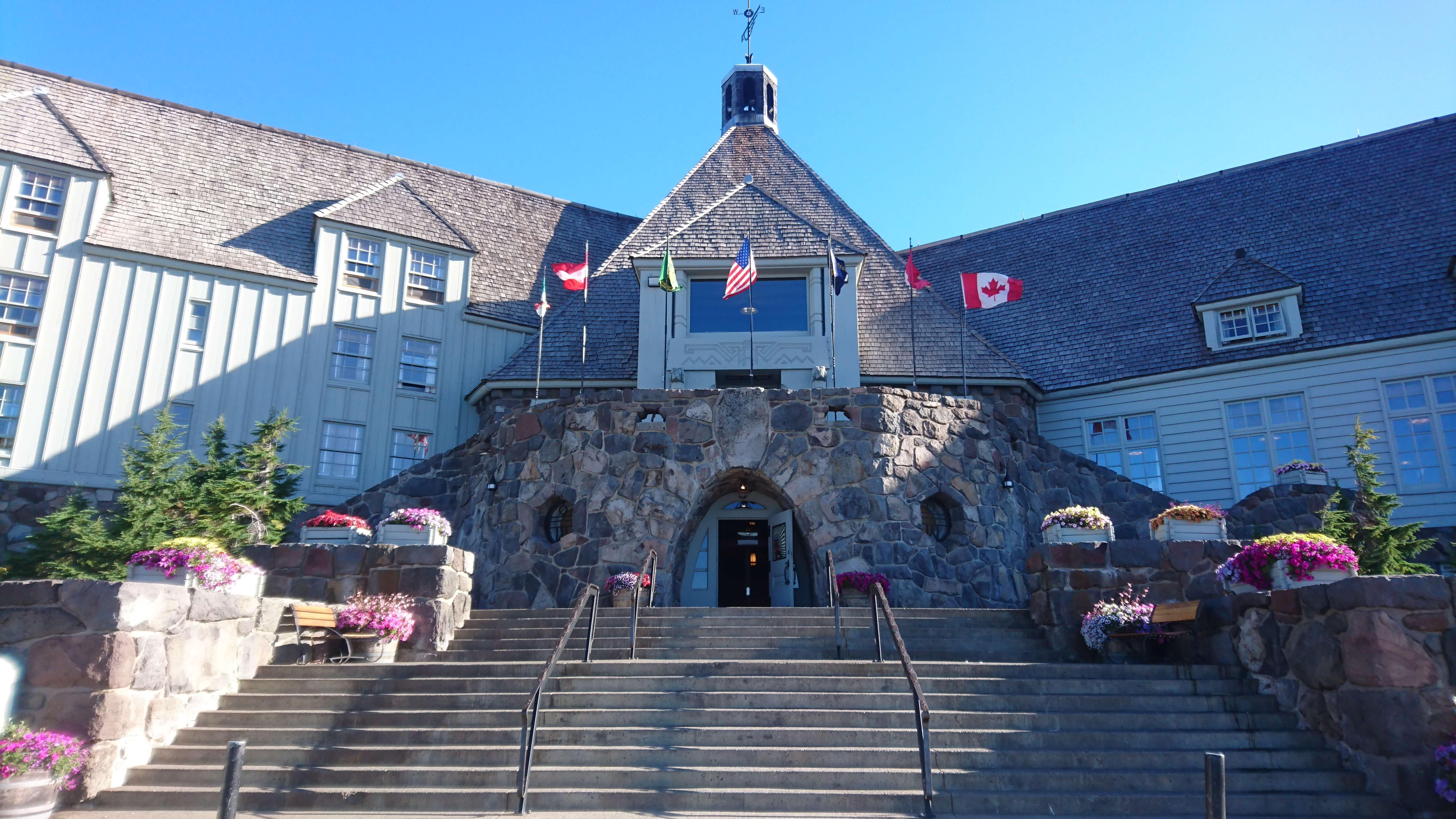 L'entrée de Timberline Lodge