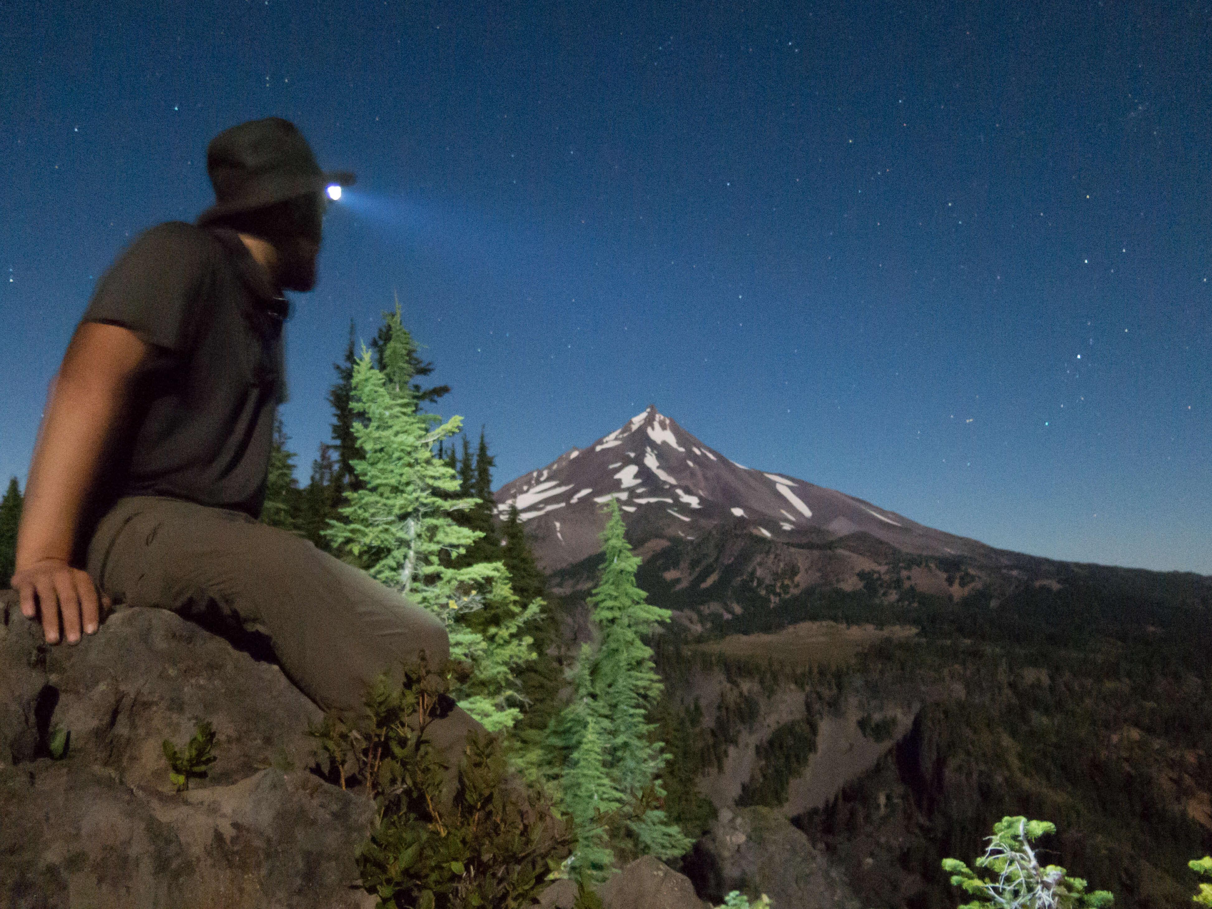 Photo de Pierre Bour - Wild Frenchies devant le Mont Jefferson